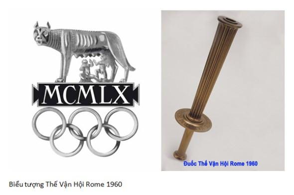Bieu tương và đuốc Rome 1960